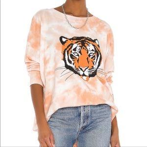 Wildfox La Tigre Roadtrip sweatshirt M NWT
